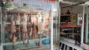 Sklep mięsny w Grecji